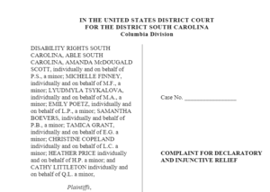 An image of the lawsuit with a long list of plaintiffs mostly.